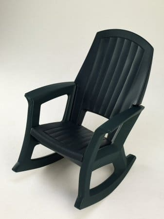 Taupe Outdoor Rocking Chair - 600-Lb. Capacity