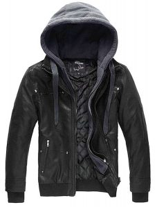 WANTDO MEN'S FAUX LEATHER JACKET