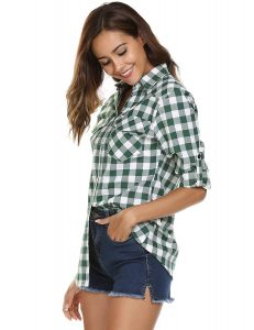 Zeagoo Women's Flannel Plaid Shirt