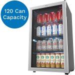 hOmeLabs Beverage Refrigerator - 120 Can Mini Fridge