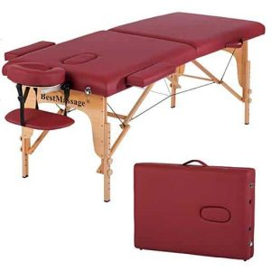 BestMassage Spa PU Height Adjustable Massage Table