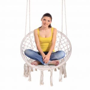 ENKEEO Hammock Chair Macrame Swing