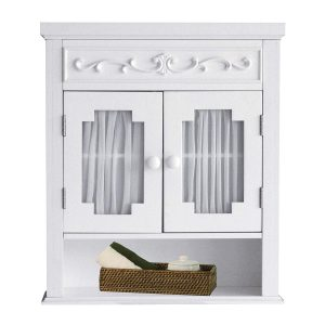 Elegant Home Fashions Lisbon Collection Shelved Wall Cabinet