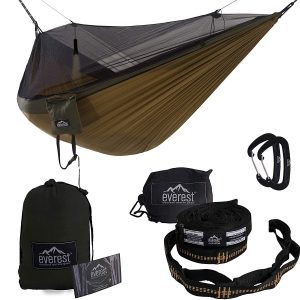 Everest Active Gear Double Camping Hammock with Mosquito Net