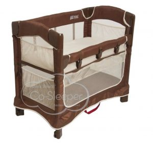 Ezee 3-in-1 Bedside Bassinet - Cocoa/Natural