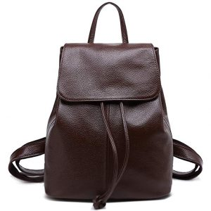 Genuine Leather Backpack School Shoulder Bag Women Travel Bag