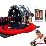 INTENT SPORTS Multi-Functional Ab Wheel Roller KITwith Resistance Bands