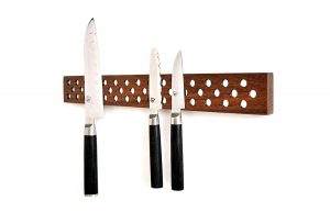 Magnetic Wooden Knife Bar Holder Strip