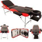 Merax Aluminum 3-Section Portable Massage Table