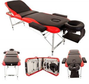 Merax Aluminum 3-Section Portable Massage Table