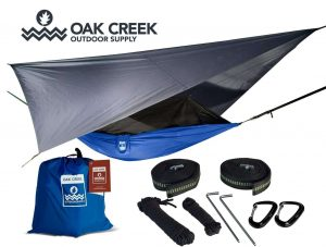 Oak Creek Outdoor Supply Camping Hammock with Mosquito Net