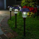 Plow & Hearth Set of 4 Solar Path Lights