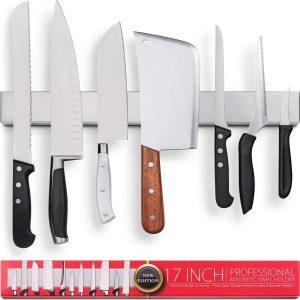Premium 17 Inch Stainless Steel Magnetic Knife Holder