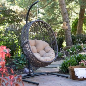 Resin Wicker Hanging Egg Chair