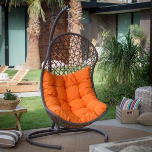 Resin Wicker Hanging Egg Swing Chair