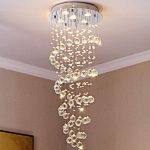 Saint Mossi KY Spiral Crystal Raindrop Chandelier Lighting
