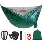 SilkRd Double Single Camping Hammock with Mosquito Net