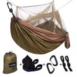 Sunyear Single and Double Camping Hammock with Mosquito Net