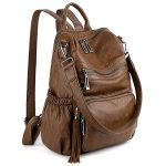 UTO Women Backpack Leather PU Washed Rucksack