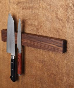 Walnut Magnetic Knife Holder with Multi-Purpose
