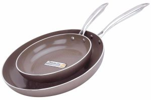 WaxonWare-8.5 & 12-Inch Ceramic Nonstick Frying Pans