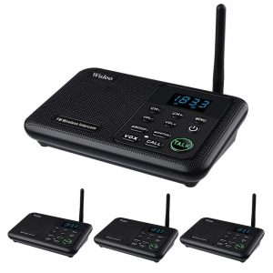 Wuloo Intercoms Wireless for Home 1 Mile Range 22 Channel