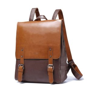 Zebella Pu Crazy Horse Vintage Women's Leather-Like Backpack