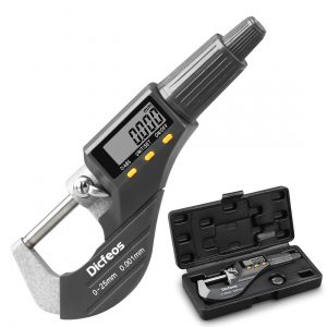 Dicfeos Digital Micrometer with Protective Case and an Extra Battery