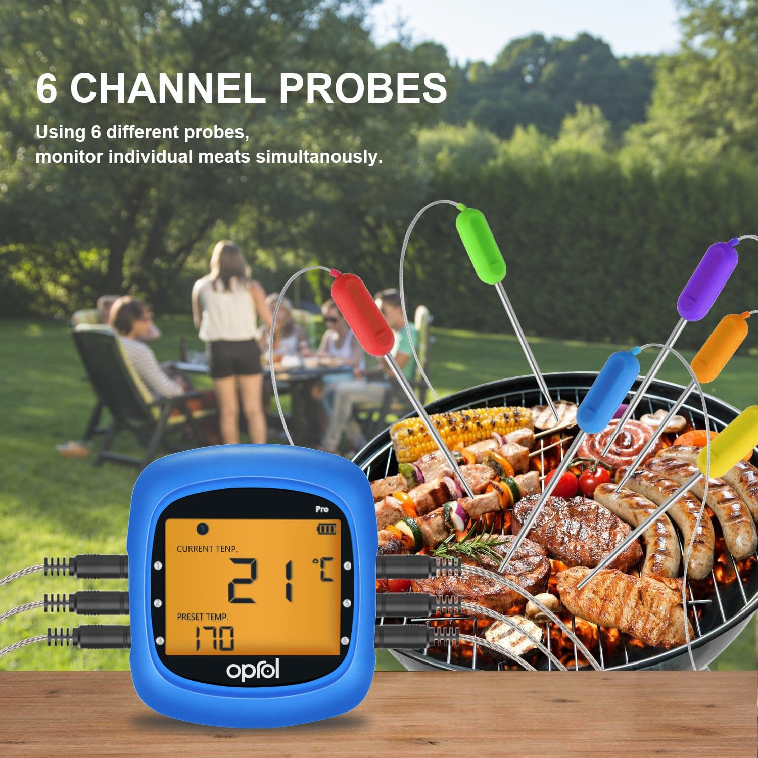 Digital grill thermometer