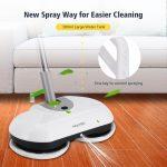 Homitt Electric Spin Mop Power Floor Scrubber Cordless Floor Mop