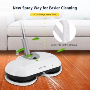 Homitt Electric Spin Mop Power Floor Scrubber Cordless Floor Mop