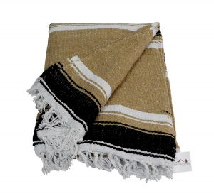Open Road Goods Brown Thick Navajo Diamond Mexican Yoga Blanket