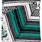 Open Road Goods Green/Teal/Turquoise Mexican Blanket