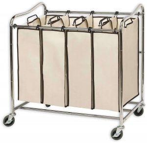 Simplehouseware Rolling Laundry Sorter (4-Bag)