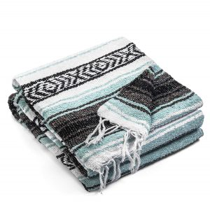 Topaz Hill Large Size Woven Mexican Blanket for Outdoor
