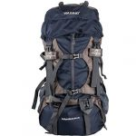 WASING 55L Internal Frame Backpack with Rain Cover