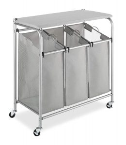 Whitmor Rolling Laundry Sorter (3 Section)