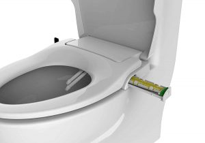 BioBidet- Non-Electric Slim Zero Toilet Seat- Easy to use