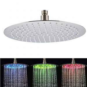 Fyeer 12-Inch LED Rain Shower Head