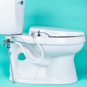 GenieBidet Seat - Rear and Feminine Self Cleaning Dual Nozzles