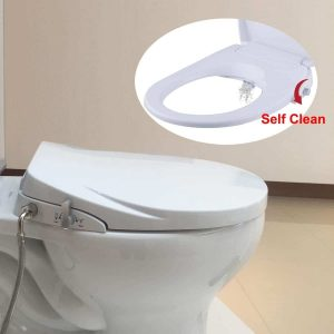 Hibbent Round Non-Electric Bidet Toilet Seats with Dual Nozzles Hygienic Washing