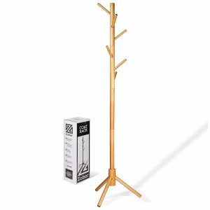 High-Grade Wooden Tree Coat Rack Stand