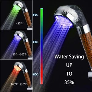 PRUGNA High-Pressure LED Shower Head