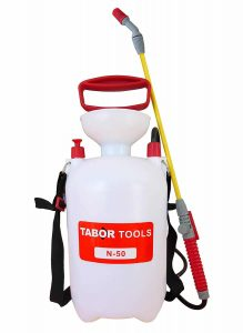 TABOR TOOLS N-50, 1.3 Gallon Lawn and Garden Pump Pressure Sprayer