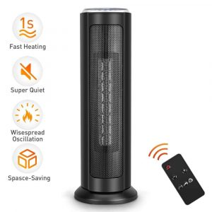 TRUSTECH Portable Ceramic Tower Heater Oscillating Digital Display w/Remote