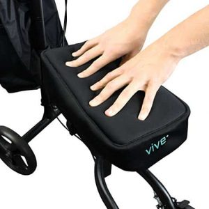 Vive Knee Scooter - Improves Leg Comfort during Injury (Black)