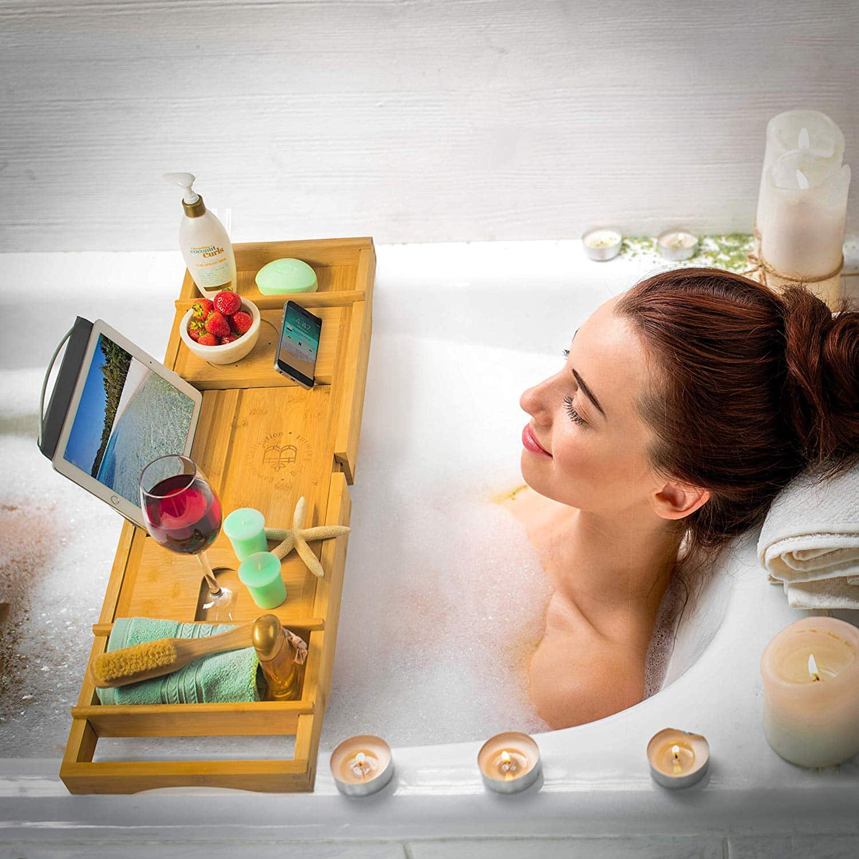 Top 10 Best Bathtub Caddies for Luxury Bath in 2020 Reviews