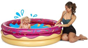 Bigmouth Strawberry Donut Inflatable Pool