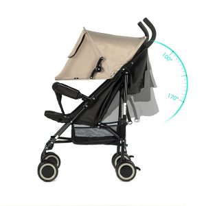 EVEZO 2141A Ultra Lightweight and Compact Umbrella Stroller (Taupe)