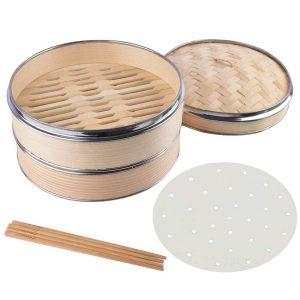 Haneye 10-inch Bamboo Steamer